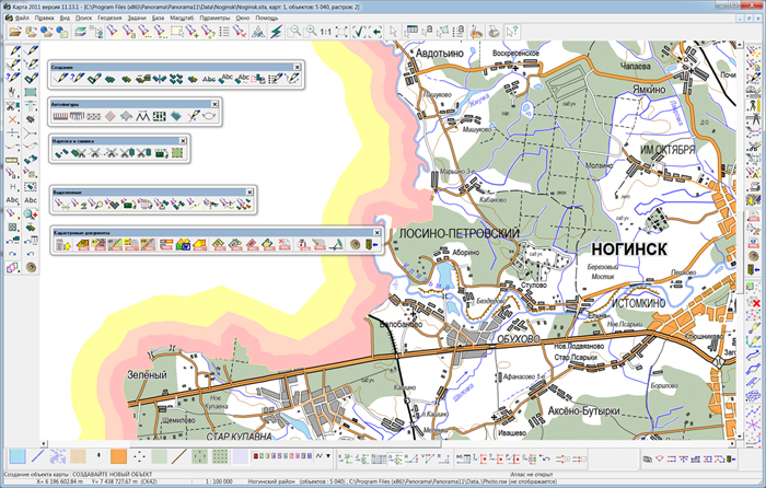 Professional GIS Map 2011